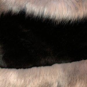 STUNNING Vintage JP FUSHI stole faux fur wrap